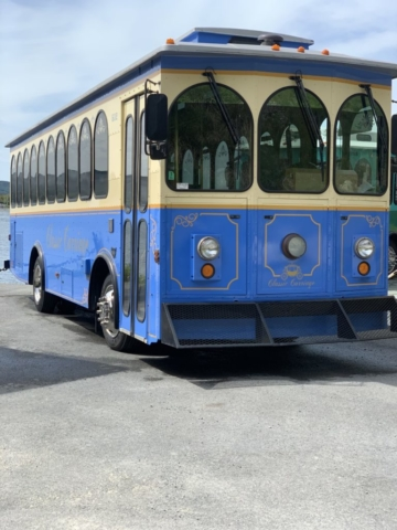Classic Carriage Trolley, Vintage Newfoundland Tours, St. Johns trolley bus