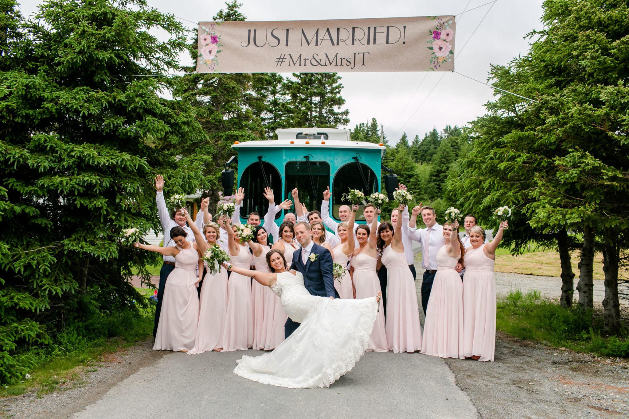 St. John's wedding transportation, Classic Trolley, Green Train, Wedding Transportation NL, Newfoundland weddings, St. John's Wedding Service